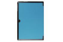 """Фирменный умный чехол-книжка самый тонкий в мире для Acer Iconia Tab A3-A30/A31 """"Il Sottile"""" голубой кожаный"""