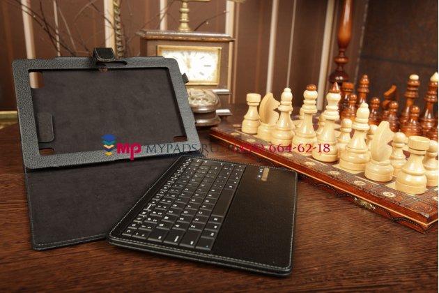 Фирменный чехол со съёмной клавиатурой для Acer Iconia Tab A510/A511 черный кожаный + гарантия
