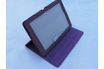 Фирменный чехол-обложка для Acer Iconia Tab A510/A511 фиолетовый кожаный