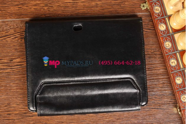 Фирменный чехол для Acer Iconia Tab W510/W511 черный с секцией под клавиатуру кожаный