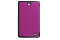 """Фирменный умный чехол самый тонкий в мире для планшета Acer Iconia One 8 B1-850-K0GL (NT.LC4EE.002) 8.0 """"Il Sottile"""" фиолетовый кожаный"""