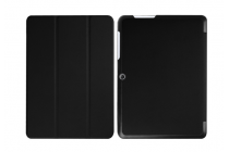 """Фирменный умный тонкий чехол для Acer Iconia One B3-A20 10.1"""" """"Il Sottile"""" черный пластиковый"""