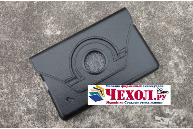 Чехол для планшета Acer Iconia Tab B1-A71 поворотный роторный оборотный черный кожаный