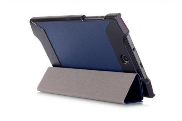 """Фирменный умный тонкий легкий чехол для Acer Predator 8 GT-810 """"Il Sottile"""" синий пластиковый"""