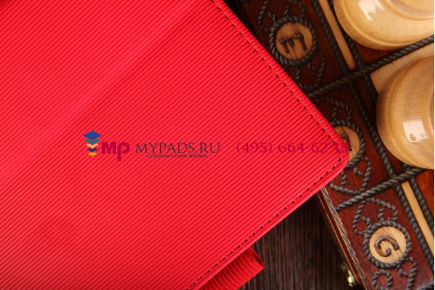 """Фирменный чехол для Acer Tab 7 A1-713/A1-713HD с мягкой противоударной подкладкой красный """"Prestige"""""""