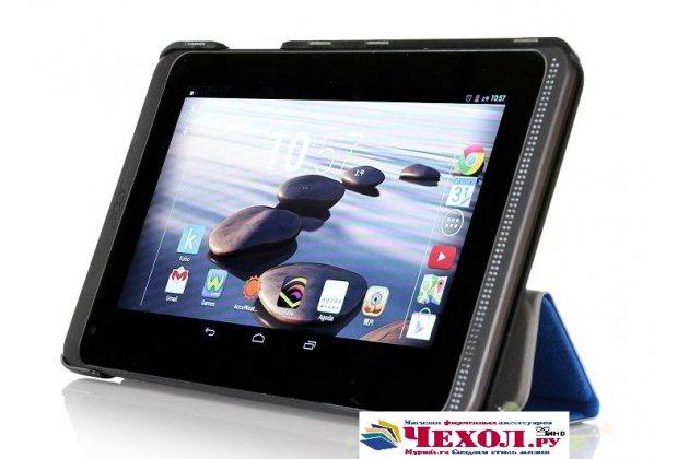 """Фирменный умный чехол-книжка самый тонкий в мире для Acer Iconia Tab B1-720/B1-721  """"Il Sottile"""" голубой пластиковый"""