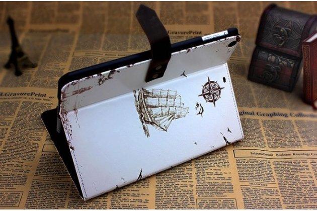 """Чехол для iPad Air MD794/791/795/792785/788789796/793/987 RU/A """"тематика ретро Штурвал"""" винтажный белый"""