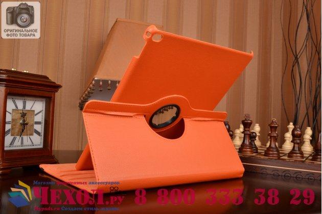 """Фирменный чехол для iPad Pro 12.9"""" поворотный оранжевый кожаный"""