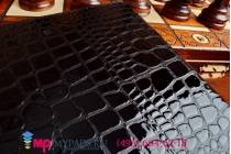 Фирменный чехол для iPad Air 2 кожа крокодила брутальный черный