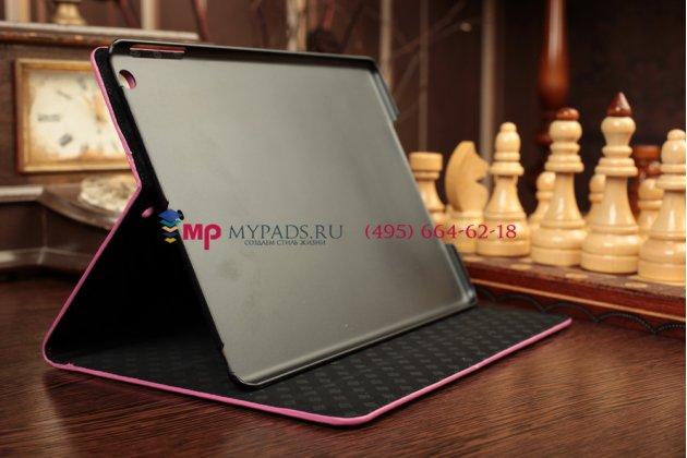 Лаковая блестящая кожа под крокодила фирменный чехол для iPad Air цвета фуксии малиновый