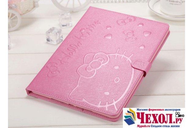 """Фирменный роскошный эксклюзивный чехол с объёмным рисунком """"Hello Kitty"""" розовый для  iPad Mini 1/2/3 retina"""