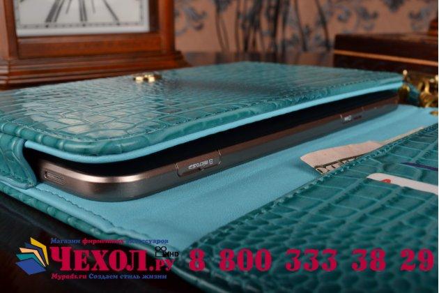Фирменный роскошный эксклюзивный чехол-клатч/портмоне/сумочка/кошелек из лаковой кожи крокодила для планшетов Acer Iconia Tab 10. Только в нашем магазине. Количество ограничено.