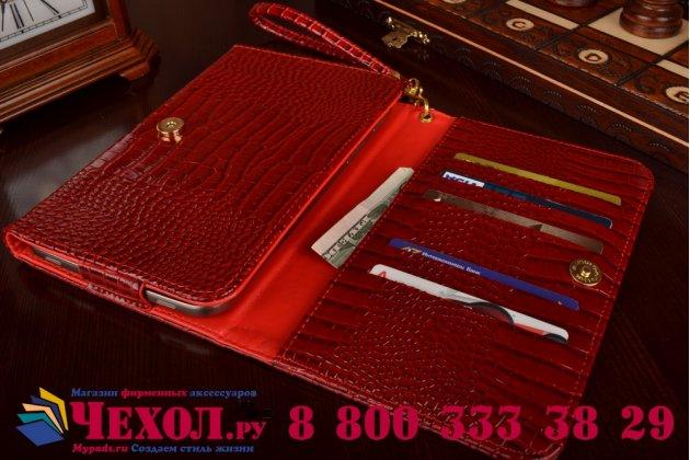 Фирменный роскошный эксклюзивный чехол-клатч/портмоне/сумочка/кошелек из лаковой кожи крокодила для планшетов Acer Aspire Switch 10V. Только в нашем магазине. Количество ограничено.