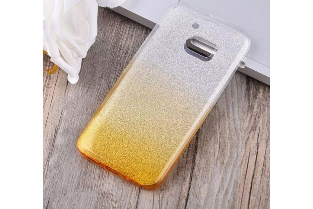 """Фирменная ультра-тонкая полимерная задняя панель-чехол-накладка из силикона для HTC 10 / HTC One M10 / Lifestyle 10 5.2"""" прозрачная с эффектом песка"""