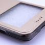 """Фирменный оригинальный чехол-книжка для Lenovo Vibe C (A2020 / A2020a40 Dual Sim /A3910 ) 5.0"""" золотой с окошком для входящих вызовов водоотталкивающий"""