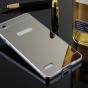 """Фирменная металлическая задняя панель-крышка-накладка из тончайшего облегченного авиационного алюминия для OPPO Mirror 5s"""" серебряная"""