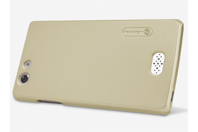 """Фирменная задняя панель-крышка-накладка из тончайшего и прочного пластика для OPPO Neo 5 / 5S"""" золотая"""