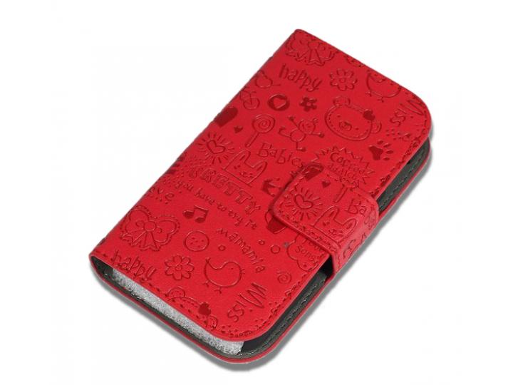 Фирменный уникальный необычный чехол-книжка для OPPO Neo 5 / 5S