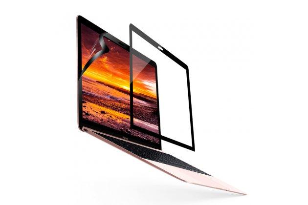 Фирменная оригинальная 3D защитная пленка с закругленными краями которое полностью закрывает экран для телефона Apple MacBook Air 11 Early 2015 (MJVM2/ MJVP2) 11.6 / Apple MacBook Air 11 Early 2014 ( MD711 / MD712) 11.6 глянцевая