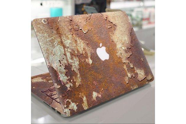 Фирменная оригинальная защитная пленка-наклейка с 3d рисунком тематика эффект ржавчины на твёрдой основе, которая не увеличивает в размерах для Apple MacBook Air 11 Early 2015 (MJVM2/ MJVP2) 11.6 / Apple MacBook Air 11 Early 2014 ( MD711 / MD712) 1