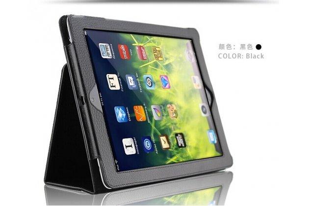 Фирменный чехол-обложка с подставкой для Acer Iconia One B3-A20 (NT.LBYEE.004) черный кожаный
