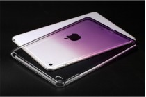 Фирменная ультра-тонкая полимерная задняя панель-чехол-накладка из силикона для iPad Air 2 прозрачная с эффектом грозы