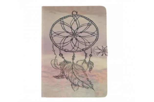 Фирменный уникальный чехол-обложка с подставкой и магнитной застежкой для iPad Pro 12.9 с рисунком тематики Ловец Снов