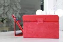 Фирменный чехол-обложка для Acer Iconia Tab A210/A211 красный кожаный