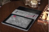 Чехол-обложка для Acer Iconia Tab A510/A511 джинсовый с кожей