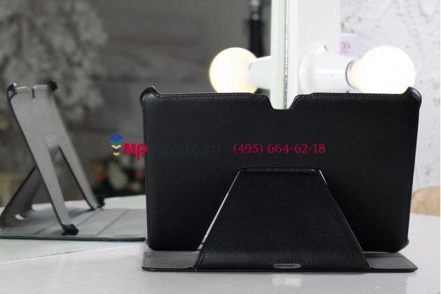 Чехол для Acer Iconia Tab A700/A701 черный кожаный янтарный