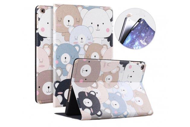 """Чехол для Apple iPad 2/3/4 """"тематика веселые мишки"""" кожаный"""