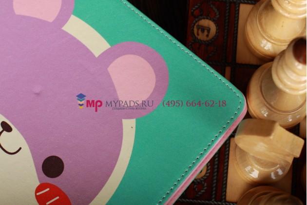 "Чехол для Apple iPad 2/3/4 ""тематика веселый мишка"" кожаный"