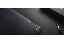 Фирменный премиальный чехол бизнес класса для Apple iPad 2/3/4 с визитницей из качественной импортной кожи синий