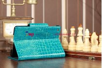 Лаковая блестящая кожа под крокодила чехол-обложка для iPad Mini бирюзовый