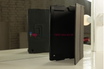 Фирменный чехол-футляр для iPad2/3/4 черный кожаный
